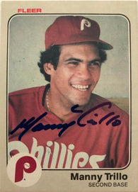 Manny Trillo Signed 1983 Fleer Baseball Card - Philadelphia Phillies