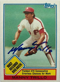 Manny Trillo Signed 1983 Topps Baseball Card - Philadelphia Phillies