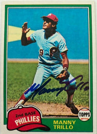 Manny Trillo Signed 1981 Topps Baseball Card - Philadelphia Phillies