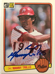 Manny Trillo Signed 1982 Donruss Baseball Card - Philadelphia Phillies