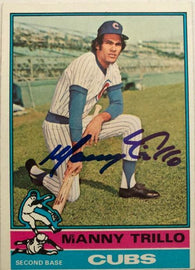 Manny Trillo Signed 1976 Topps Baseball Card - Chicago Cubs