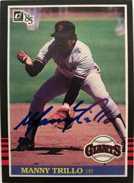 Manny Trillo Signed 1985 Donruss Baseball Card - San Francisco Giants