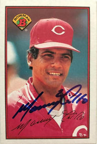 Manny Trillo Signed 1989 Bowman Baseball Card - Cincinnati Reds