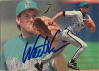 Walt Weiss Signed 1993 Flair Baseball Card - Florida Marlins