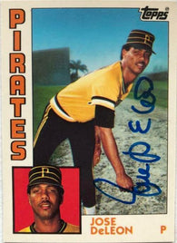 Jose Deleon Signed 1984 Topps Tiffany Baseball Card - Pittsburgh Pirates
