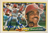 Jose Deleon Signed 1988 Topps Big Baseball Card - St Louis Cardinals