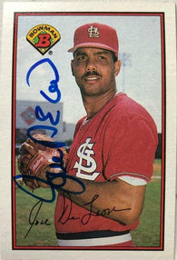 Jose Deleon Signed 1989 Bowman Baseball Card - St Louis Cardinals