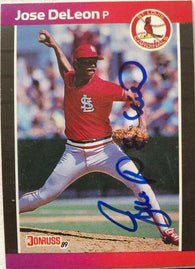 Jose Deleon Signed 1989 Donruss Baseball Card - St Louis Cardinals