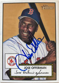 Jose Offerman Signed 2001 Topps Heritage Baseball Card - Boston Red Sox