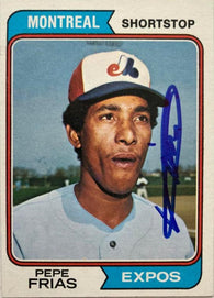 Pepe Frias Signed 1974 Topps Baseball Card - Montreal Expos