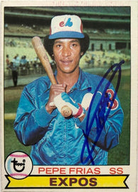 Pepe Frias Signed 1979 Topps Baseball Card - Montreal Expos