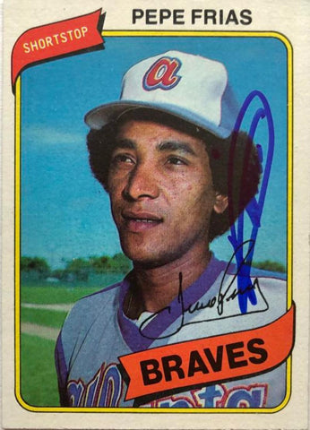 Pepe Frias Signed 1980 Topps Baseball Card - Montreal Expos - PastPros