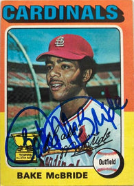 Bake McBride Signed 1975 Topps Baseball Card - Philadelphia Phillies - PastPros