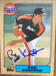 Bob Knepper Signed 1987 Topps Baseball Card - Houston Astros - PastPros
