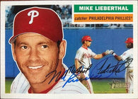 Mike Lieberthal Signed 2005 Topps Heritage Baseball Card - Philadelphia Phillies