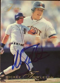 Mickey Tettleton Signed 1993 Flair Baseball Card - Detroit Tigers