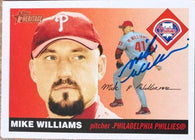 Mike Williams Signed 2004 Topps Heritage Baseball Card - Philadelphia Phillies