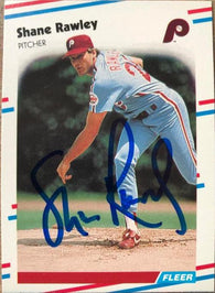 Shane Rawley Signed 1988 Fleer Baseball Card - Philadelphia Phillies - PastPros