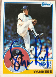 Shane Rawley Signed 1983 Topps Baseball Card - New York Yankees - PastPros