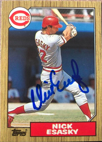 Nick Esasky Signed 1987 Topps Baseball Card - Cincinnati Reds