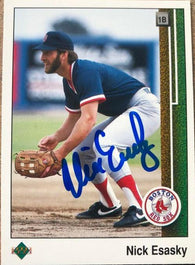 Nick Esasky Signed 1989 Upper Deck Baseball Card - Boston Red Sox