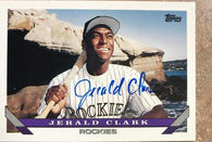 Jerald Clark Signed 1993 Topps Baseball Card - Colorado Rockies - PastPros