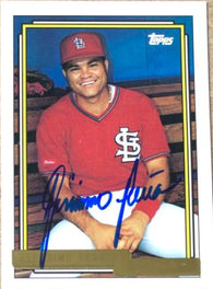 Geronimo Pena Signed 1992 Topps Gold Baseball Card - St Louis Cardinals - PastPros
