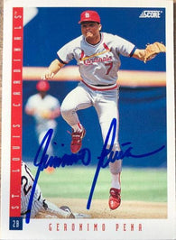 Geronimo Pena Signed 1993 Score Baseball Card - St Louis Cardinals - PastPros