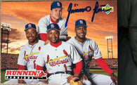 Geronimo Pena Signed 1993 Upper Deck Baseball Card - St Louis Cardinals - PastPros