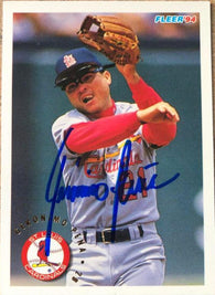 Geronimo Pena Signed 1994 Fleer Baseball Card - St Louis Cardinals - PastPros
