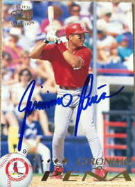 Geronimo Pena Signed 1995 Pacific Baseball Card - St Louis Cardinals - PastPros