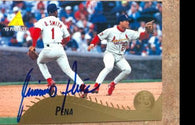 Geronimo Pena Signed 1995 Pinnacle Baseball Card - St Louis Cardinals - PastPros