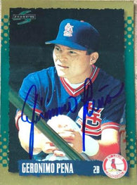 Geronimo Pena Signed 1995 Score Gold Rush Baseball Card - St Louis Cardinals - PastPros