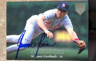 Geronimo Pena Signed 1995 Upper Deck Electric Diamond Baseball Card - St Louis Cardinals - PastPros