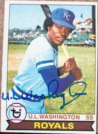 UL Washington Signed 1979 Topps Baseball Card - Kansas City Royals - PastPros