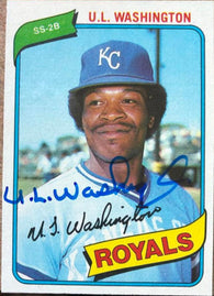 UL Washington Signed 1980 Topps Baseball Card - Kansas City Royals - PastPros
