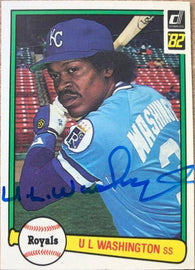 UL Washington Signed 1982 Donruss Baseball Card - Kansas City Royals - PastPros