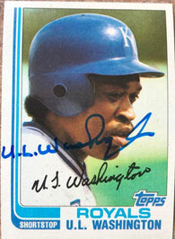 UL Washington Signed 1982 Topps Baseball Card - Kansas City Royals - PastPros