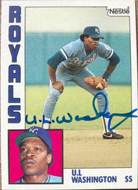 UL Washington Signed 1984 Nestle Baseball Card - Kansas City Royals - PastPros