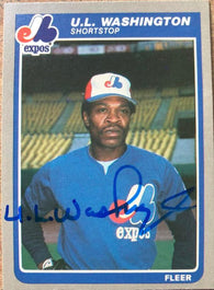 UL Washington Signed 1985 Fleer Baseball Card - Montreal Expos - PastPros