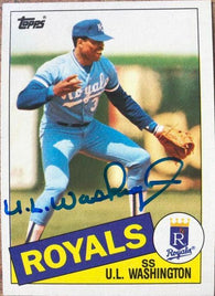 UL Washington Signed 1985 Topps Baseball Card - Kansas City Royals - PastPros