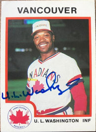 UL Washington Signed 1987 Pro Cards Baseball Card - Vancouver Canadians - PastPros