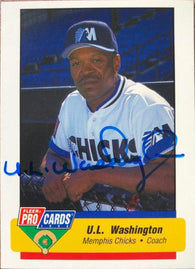 UL Washington Signed 1994 Pro Card Cards Baseball Card - Memphis Chicks - PastPros