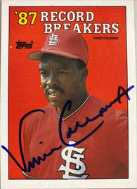 Vince Coleman Signed 1988 Topps RB Baseball Card - St Louis Cardinals