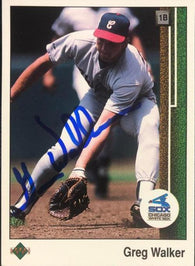 Greg Walker Signed 1989 Upper Deck Baseball Card - Chicago White Sox