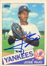 Jose Rijo Signed 1985 Topps Baseball Card - New York Yankees
