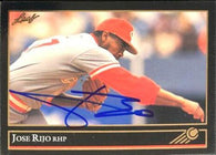Jose Rijo Signed 1992 Leaf Gold Baseball Card - Cincinnati Reds