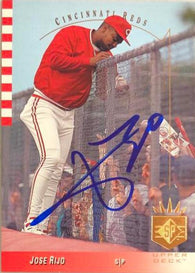 Jose Rijo Signed 1993 SP Baseball Card - Cincinnati Reds