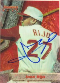 Jose Rijo Signed 1994 Bowman's Best Baseball Card - Cincinnati Reds