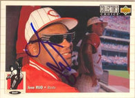Jose Rijo Signed 1994 Collector's Choice Baseball Card - Cincinnati Reds